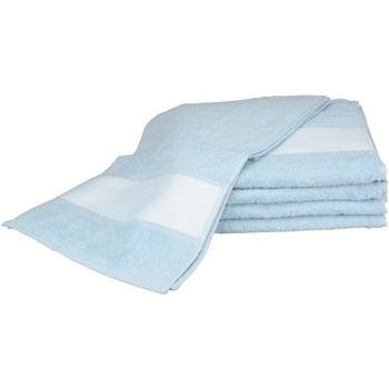 Casa Toalla y manopla de toalla A&r Towels 30 cm x 140 cm RW6042 Azul claro