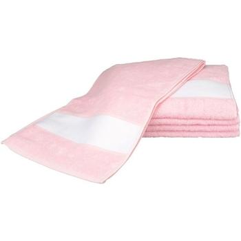 Casa Toalla y manopla de toalla A&r Towels 30 cm x 140 cm RW6042 Rosa claro