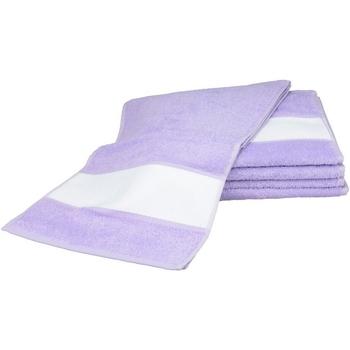 Casa Toalla y manopla de toalla A&r Towels 30 cm x 140 cm RW6042 Morado