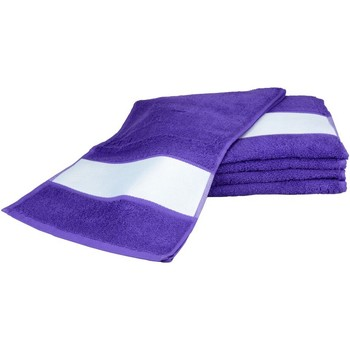 Casa Toalla y manopla de toalla A&r Towels 30 cm x 140 cm RW6042 Púrpura