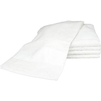 Casa Toalla y manopla de toalla A&r Towels 30 cm x 140 cm RW6042 Blanco