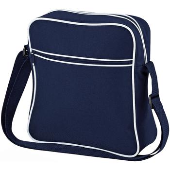 Bolsos Niño Cartable Bagbase BG16 Azul marino/blanco