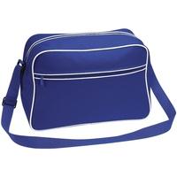 Bolsos Niño Cartable Bagbase BG14 Azul/blanco