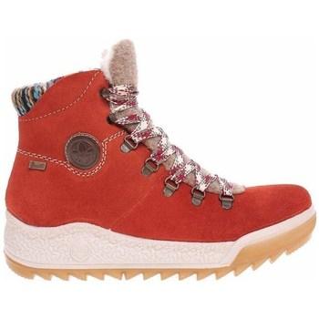Zapatos Mujer Zapatillas altas Rieker Y474138 Rojos, Beige