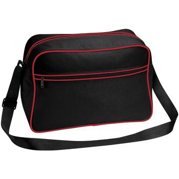 Bolsos Niño Cartable Bagbase BG14 negro/Rojo Clásico