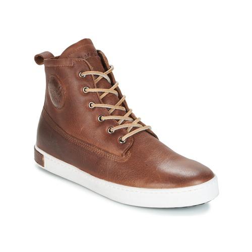 Zapatos Hombre Zapatillas altas Blackstone INCH WORKER ON FOXING FUR Marrón