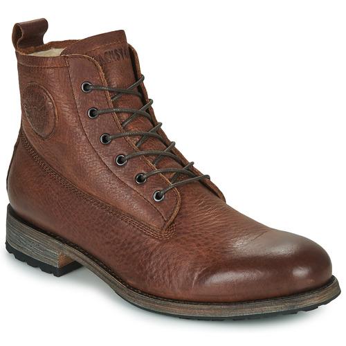 Zapatos Hombre Botas de caña baja Blackstone MID LACE UP BOOT FUR Marrón