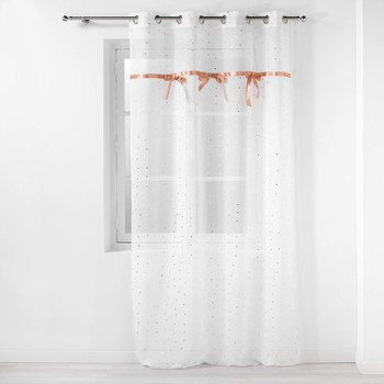 Casa Niños Cortinas transparentes Douceur d intérieur LITTLE MISS Blanco