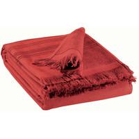 Casa Toalla y manopla de toalla Vivaraise CANCUN Rojo