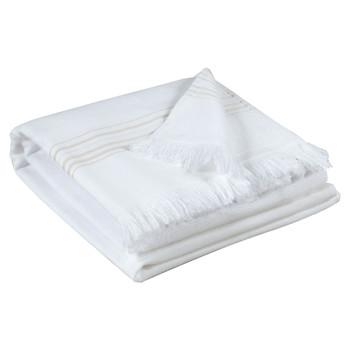 Casa Toalla y manopla de toalla Vivaraise CANCUN Blanco