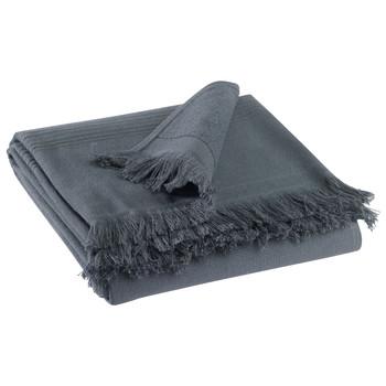 Casa Toalla y manopla de toalla Vivaraise CANCUN Gris / Sombra