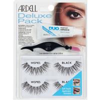 Belleza Mujer Máscaras de pestañas Ardell Kit Deluxe Pack Wispies Black Lote