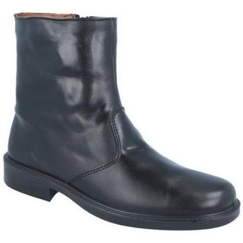 Zapatos Hombre Botas de caña baja Luisetti ZAPATO Bota Confort Step 0152 Merinillo Negro Negro
