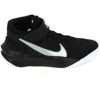 Zapatos Niños Baloncesto Nike Team Hustle D 10 Flyease Jr Noir Blanc DD7303-004 Negro