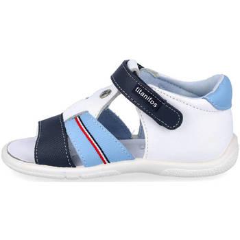 Zapatos Niño Sandalias Titanitos L670 PAU BLANCO