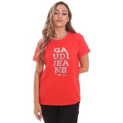 textil Mujer Camisetas manga corta Gaudi 111BD64063 Rojo