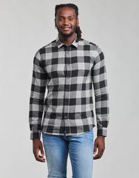 textil Hombre Camisas manga larga Only & Sons  ONSGUDMUND Negro / Blanco