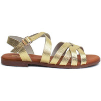 Zapatos Mujer Sandalias Gennia ALEXIA Sandalias Planas Piel Dorado Platino Otros