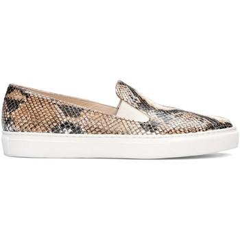 Zapatos Mujer Slip on Gennia Zapatillas Mujer Slip On Cierre Elastico sin Cordones - BEATRIZ Beige