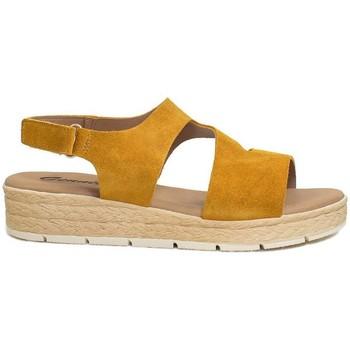 Zapatos Mujer Sandalias Gennia DANA Sandalias Comodas Piel Serraje Amarillo Mostaza Otros