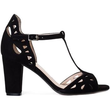 Zapatos Mujer Sandalias Gennia Sandalias Negras Vestir Calados Mujer Piel Tiras - FATIMA Negro