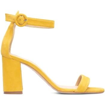 Zapatos Mujer Sandalias Gennia Sandalias Tobilleras Mostaza Tacon Pulsera Tiras - FULAR Amarillo