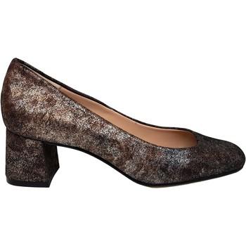 Zapatos Mujer Zapatos de tacón Gennia Zapatos Salones Marron Mujer Piel Tacon Bajo - HOLGA Marrón