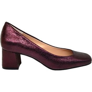 Zapatos Mujer Zapatos de tacón Gennia Zapatos Salones Rojo Mujer Piel Tacon Bajo - HOLGA Rojo