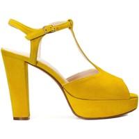 Zapatos Mujer Sandalias Gennia Sandalias Destalonadas Amarillo Tacon Plataforma Hebilla - IRIS Amarillo