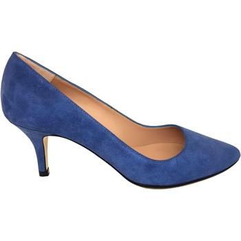 Zapatos Mujer Zapatos de tacón Gennia ISA Piel Ante con Grabado Jeans Azul Azul