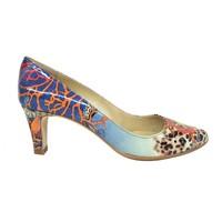 Zapatos Mujer Zapatos de tacón Gennia ISA Piel Charol Grabado Multicolor