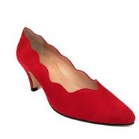 Zapatos Mujer Zapatos de tacón Gennia Salones Tacones Mujer Piel Comodos Tacon Bajo - ISCOBA Rojo
