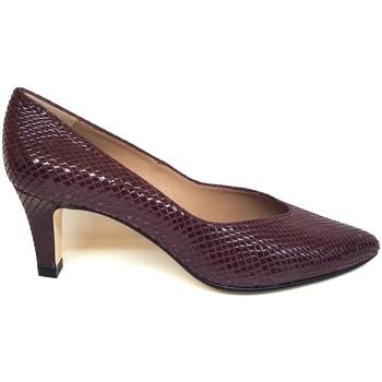 Zapatos Mujer Zapatos de tacón Gennia ISORBO Piel Grabada Serpiente Rojo Burdeos Otros