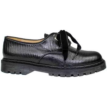 Zapatos Mujer Derbie Gennia Oxford Blucher Zapatos Casual Piel Negro Cordones - KRISTEL Negro