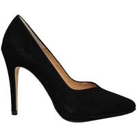 Zapatos Mujer Zapatos de tacón Gennia Salones Tacones Altos Plataforma Piel Negro Mujer - MERCURY Negro
