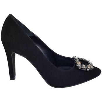 Zapatos Mujer Zapatos de tacón Gennia Tacones Altos Negro Piel Vestir Fiesta Adorno Piedras - MINERVA Negro