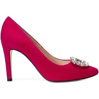 Zapatos Mujer Zapatos de tacón Gennia Zapatos Tacones Alto Rosa Piel Mujer Fiesta Adorno - MINERVA Rosa