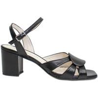 Zapatos Mujer Sandalias Gennia SILVIA Sandalias Tacón Piel Napa Soft Negra Negro