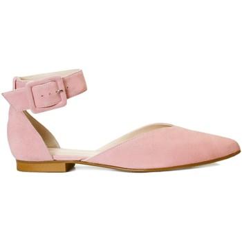 Zapatos Mujer Bailarinas-manoletinas Gennia Bailarinas Mujer Rosa Palo Piel Comodas Tacon Hebilla -VICTORIA Rosa
