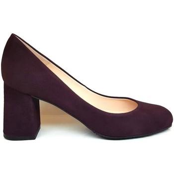 Zapatos Mujer Zapatos de tacón Gennia Salones Zapatos Morado Mujer Tacon Ancho Piel - VIVA Morado