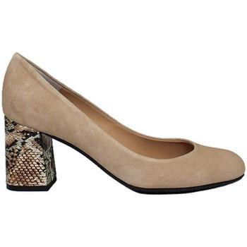 Zapatos Mujer Zapatos de tacón Gennia Salones Zapatos Mujer Tacon Ancho Piel Beige Maquillaje - VIVA Beige