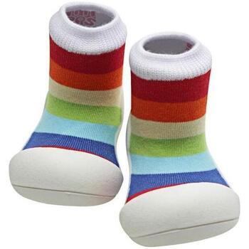 Zapatos Niños Pantuflas para bebé Attipas Rainbow White Multicolor