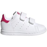 Zapatos Niña Zapatillas bajas adidas Originals Stan Smith CF I FX7538 CO Blanco