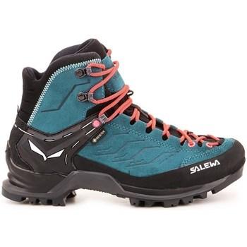 Zapatos Mujer Senderismo Salewa Mtn Trainer Mid Gtx Azul turquesa