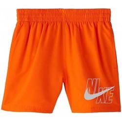 textil Niño Bañadores Nike BAÑADOR NIÑO  NESSA771 Naranja