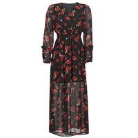 textil Mujer Vestidos largos Moony Mood PILAF Negro / Rojo