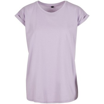 textil Mujer Camisetas manga corta Build Your Brand Extended Violeta