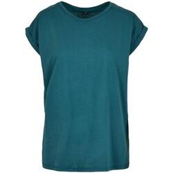 textil Mujer Camisetas manga corta Build Your Brand Extended Azul