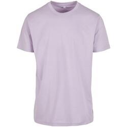 textil Hombre Camisetas manga corta Build Your Brand BY004 Violeta