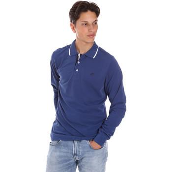 textil Hombre Polos manga larga Key Up 2L711 0001 Azul